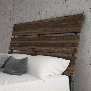 Carbon Loft Morita Queen Size Metal Headboard with Wood