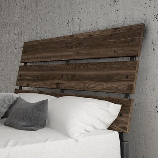 Carbon Loft Morita Full Size Metal Headboard with Wood