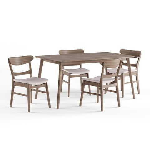 Carson Carrington Grisslehamn Mid-century Rectangle 5-piece Dining Set
