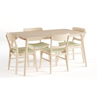 Carson Carrington Grisslehamn Mid-century Rectangle Dining Set (5-piece) (3 options available)