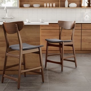 Shop Carson Carrington Lund Wood 24 Inch Counter Stool Set Of 2 On Sale Free