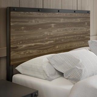Carbon Loft Teller Full Size Metal Headboard with Wood