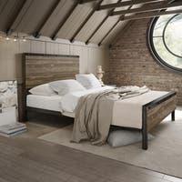 Amisco Winkler Queen Size Metal Bed with Wood