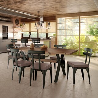 Carbon Loft Montgolfier Metal Chair and Table Dining Set