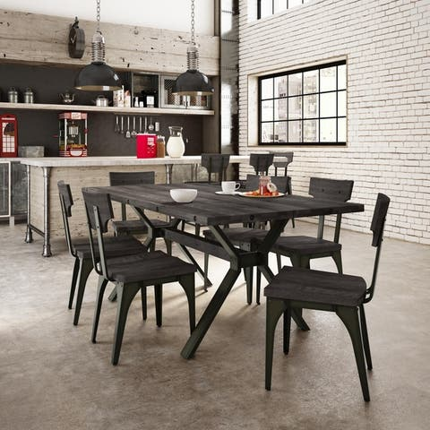 Amisco Laredo Table and Station Chairs 7-piece Dining Set