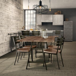 Carbon Loft Montgolfier Metal Table with Wood