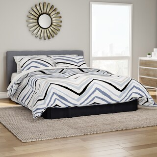 The Curated Nomad Sorrento Blue Chevron Bed in a Bag Set