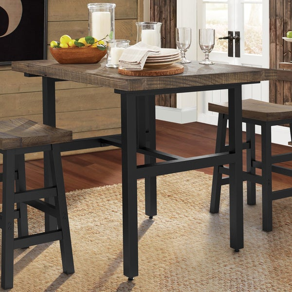 e544919bfe72f1 Shop Carbon Loft Lawrence Reclaimed Wood Counter Height Dining Table ...