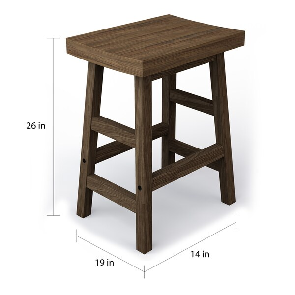 Carbon Loft Lawrence Reclaimed Wood Counter Stool