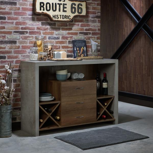 Furniture of America Mystal Industrial Concrete-like Buffet. Opens flyout.