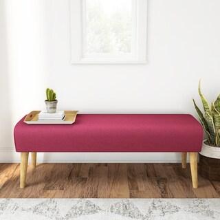 Carson Carrington Horsholm Mid-century Fabric Ottoman Bench