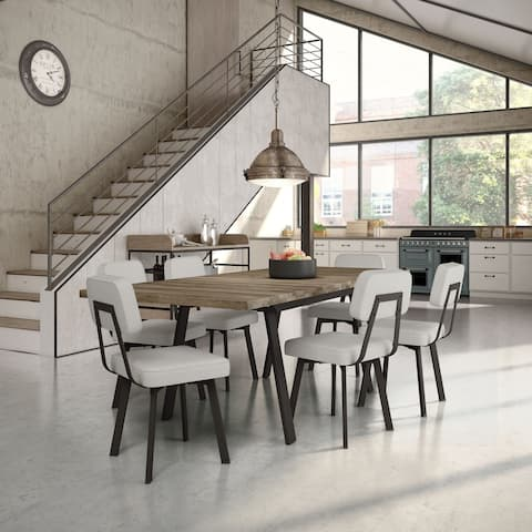 Carbon Loft Elion Metal Chairs and Kane Table Dining Set