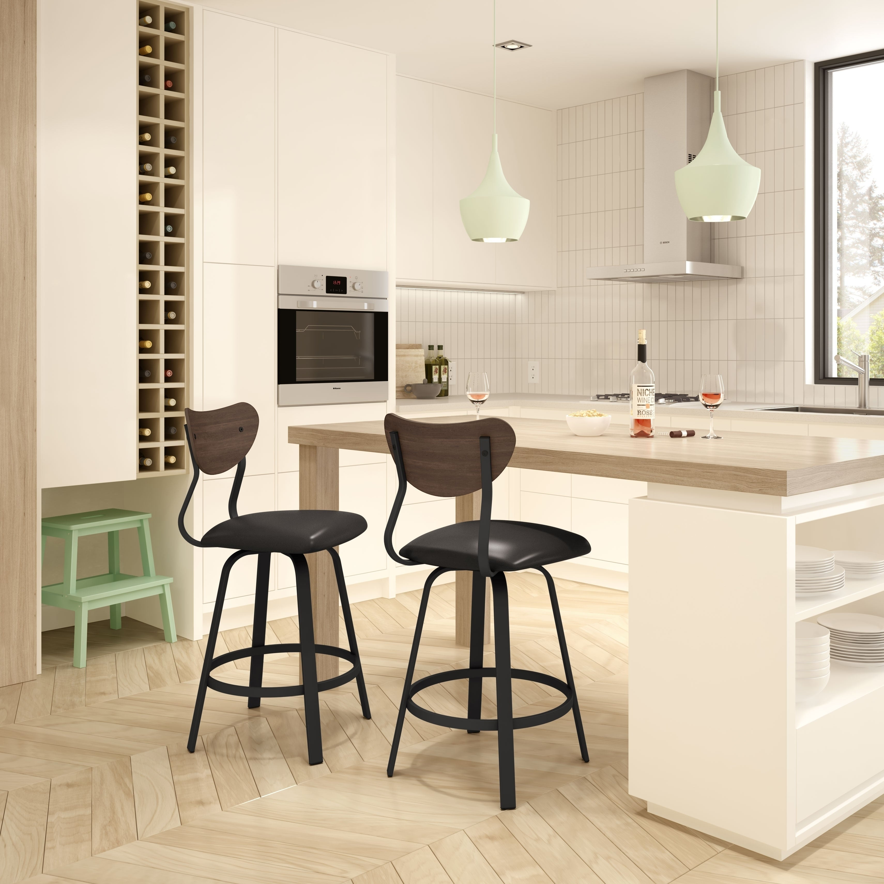 Magnificent Carbon Loft Simpson Armless Swivel Metal Stool Camellatalisay Diy Chair Ideas Camellatalisaycom