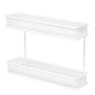 Seville Classics 2-Tier Countertop and Wall Mount Spice Rack Organizer