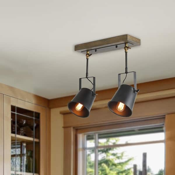 Lnc Wood Close To Ceiling Track Lighting Spotlights 2