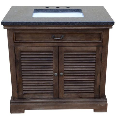 36 inch wide Mango Vanity in brown finish