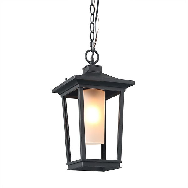 LNC 1-Light Transitional Pendant Lights Porch Hanging Lighting