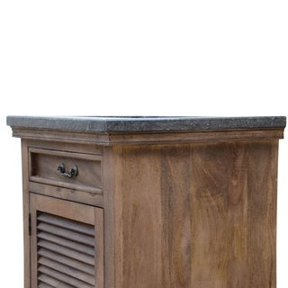 24 inch wide Mango Vanity in Brown finish