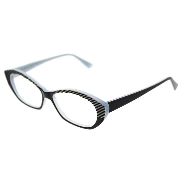 3d859f2292a25 Lafont Cat-Eye LF Tarentelle 1024 Women Black Striped Frame Eyeglasses