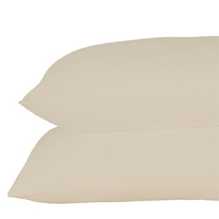 Just Linen 540 Thread Count 100% Egyptian Quality Cotton, Economy Pack Of 4 Solid Queen Pillow Cases