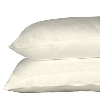 Just Linen 300 Thread Count 100% Cotton Sateen, Pack Of 4 Solid Queen Pillow Cases