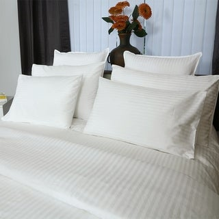 Just Linen Hotel Collection, 400 Thread Count 100% Egyptian Quality Cotton Sateen, Economy Pack Of 4 White Pillow Cases