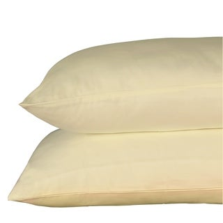 Just Linen 650 Thread Count 100% Egyptian Quality Cotton, Economy Pack Of 4 Solid Queen Pillow Cases