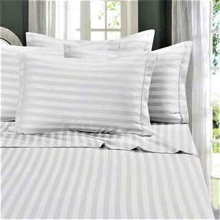 Just Linen Hotel Collection, 300 Thread Count 100% Cotton Sateen, Economy Pack Of 4 White Queen Pillow Cases