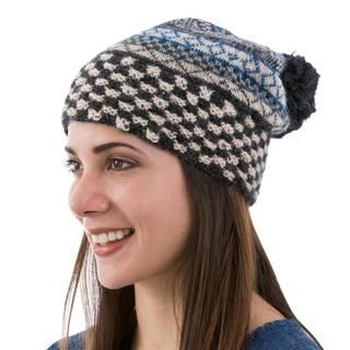 Handmade Alpaca 'Organic Geometry' Hat (Peru)
