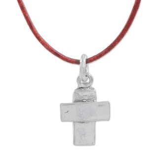 Handmade Fine Silver 'Spiritual Inspiration' Necklace (Guatemala)