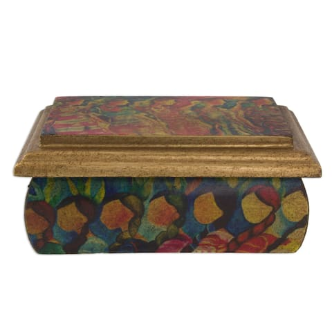 Handmade Decoupage 'Huichol Women' Jewelry Box (Mexico)