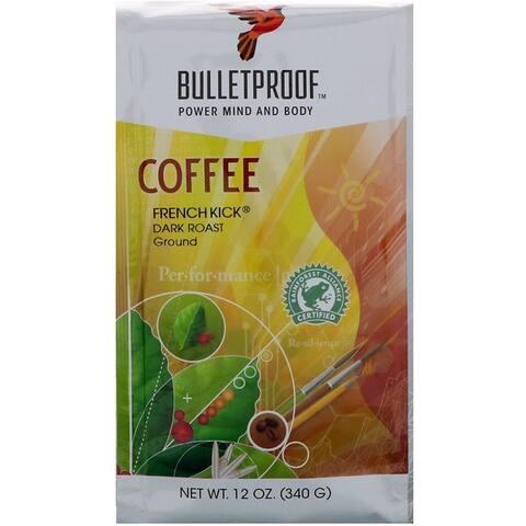 BulletProof French Kick Dark Roast Ground Coffee 12-ounce