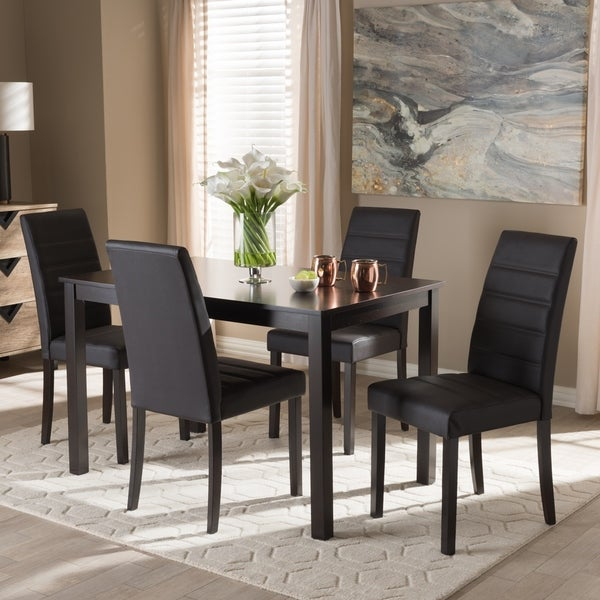 Shop Contemporary 5-Piece Dining Set By Baxton Studio
