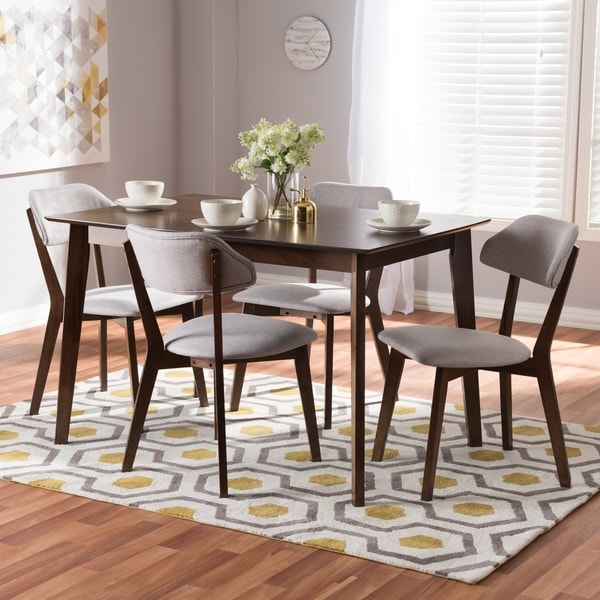 Shop Mid-century 5-Piece Dining Set By Baxton Studio