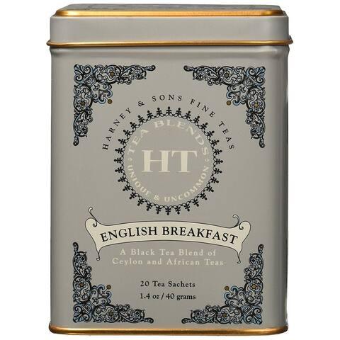 Harney & Sons English Breakfast Black Tea 20 sachet tin