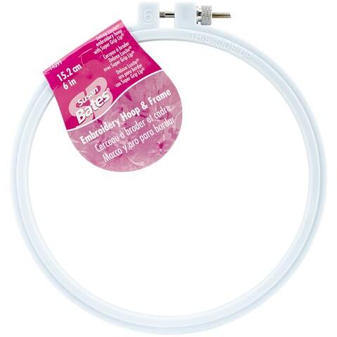Bates Plastic Embroidery Hoop - Light Blue