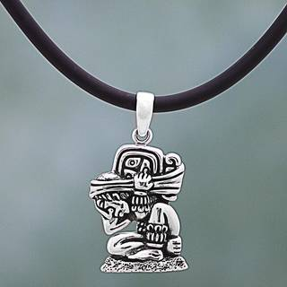 Handmade Sterling Silver 'The Carrier of Time' Necklace (Mexico)