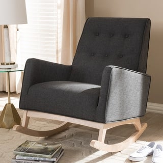 Mid-century Fabric Rocking Chair by Baxton Studio