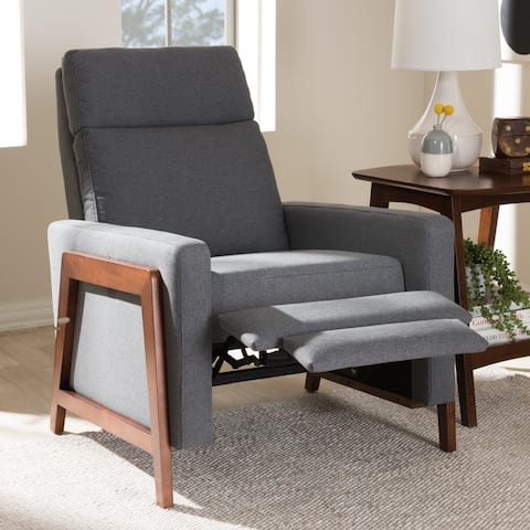 Mid-century Fabric Recliner by Baxton Studio