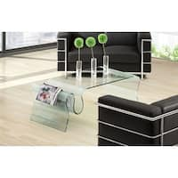 Pyper Marketing Milo's Clear Glass Coffee Table