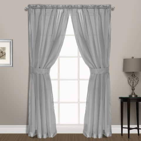 Luxury Collection Summit Sheer Curtain Panel Pair