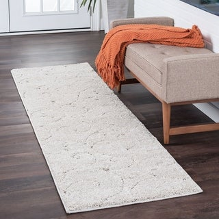 Alise Rugs Waverly Shag Transitional Scroll Runner Rug - 2'3 x 11'9