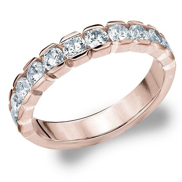 Shop Amore 10kt Rose Gold 1ct Tdw Box Setting Diamond