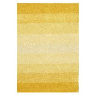 Hand-tufted Yellow Stripe Wool Rug (8' x 10') - 8' x 10'