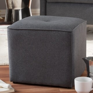 Contemporary Fabric Ottoman by Baxton Studio