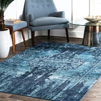 nuLOOM Abstract Elegant Ombre Casual Blue Area Rug (9' x 12')