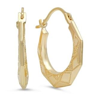 Pori Jewelers 10K Solid Gold Hoop Earrings