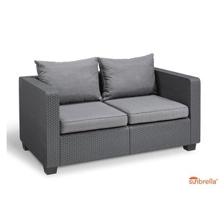 Keter Salta All-Weather Outdoor Patio Loveseat with Cushions