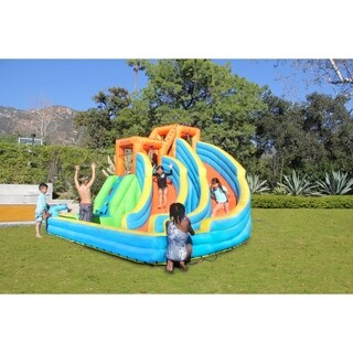 Sportspower Twin Peaks Inflatable Splash and Slide