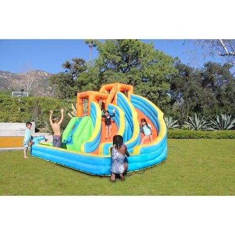 Sportspower Twin Peaks Inflatable Splash and Slide